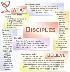 This is what disciples emphasize. Click to graphic to enlarge image.